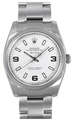 Swiss Rolex Air-King 114200-70190 White Dial Men Automatic Replica Watch