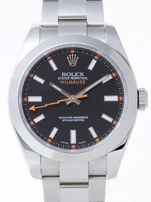 Swiss Rolex Milgauss 116400 Black Dial Men Automatic Replica Watch