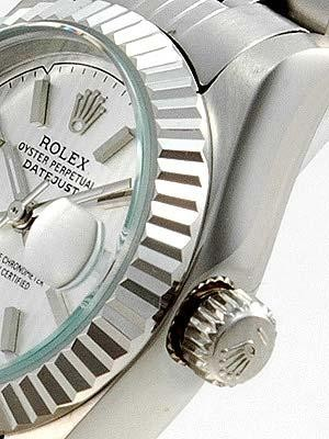 Rolex Datejust Replica Watches SS Gray Dial Bar Hour Markers