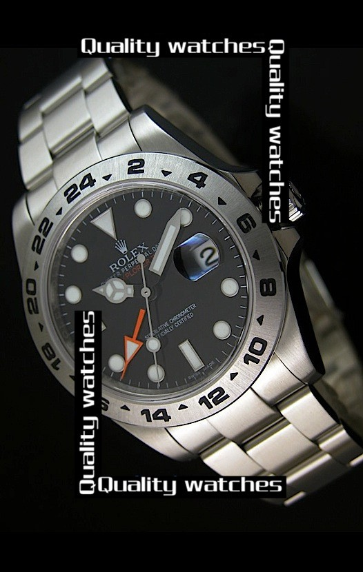 Swiss Rolex Explorer II 216570-77210 Black Dial Super Luminous Men Automatic Replica Watch