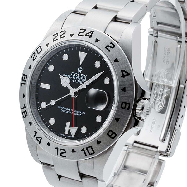Swiss Rolex Explorer II 16570-78790 Black Dial Men Automatic Replica Watch (Super Model)