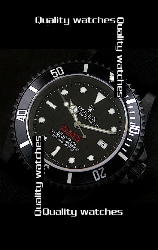 Rolex Pro-Hunter Sea-Dweller Edition PVD coated 40mm Automatic Replica Watch