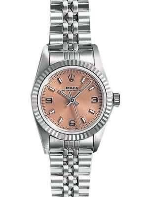 Rolex Datejust Replica Watches SS Salmon Dial Number and Bar Hour Markers V