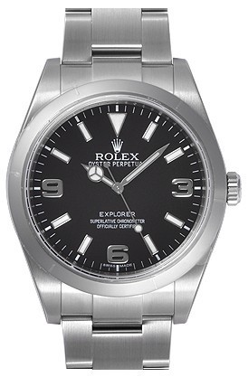 Swiss Rolex Explorer Ref.214270 Black Dial Men Automatic Replica Watch