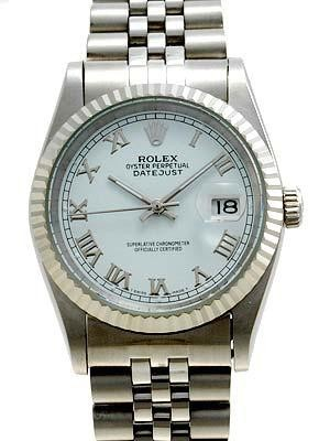Rolex Datejust Replica Watches 116234-0089 SS White dial roman numeral markers II
