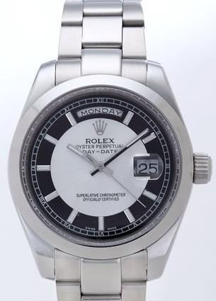 Rolex Day-Date II Replica Watches White Dial RX41169