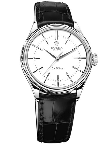 Rolex Cellini Swiss Replica Watch 50509-0016 White Dial 39mm (High End)