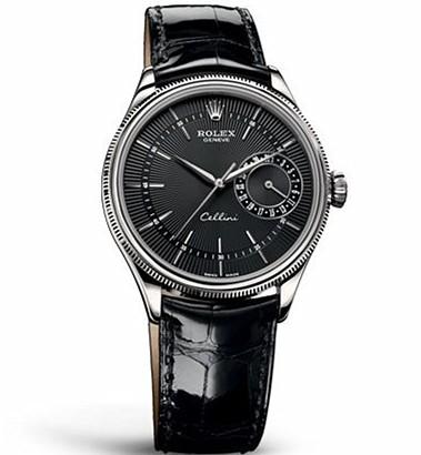 Rolex Cellini Swiss Replica Watch Date 50519-0007 Black Dial 39mm (High End)