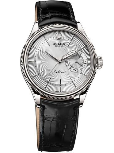 Rolex Cellini Swiss Replica Watch Date 50519-0006 Silver White Dial 39mm (High End)