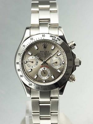 Rolex Daytona Replica Watches SS Case Slate Serti Dial