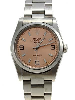 Rolex Air King  Replica Watches SS Brown Dial Bar Hour Markers