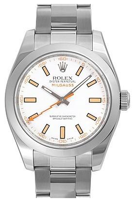 Swiss Rolex Milgauss 116400-72400 White Dial Men Automatic Replica Watch