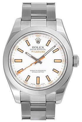 Rolex Milgauss 116400-72400 White Dial Men Automatic Replica Watch