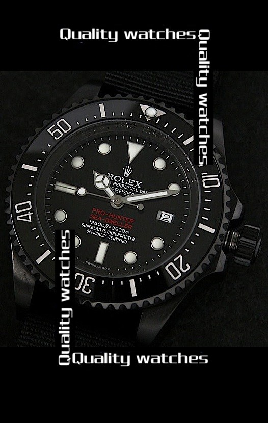 Rolex Deepsea Pro-Hunter Sea-Dweller Jacques Piccard Edition 43mm Nylon strap Automatic Replica Watch