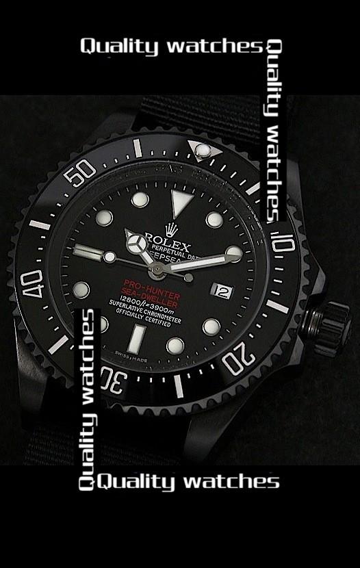 Rolex Deepsea Pro-Hunter Sea-Dweller Jacques Piccard Edition 43mm Nylon strap Automatic Replica Watch