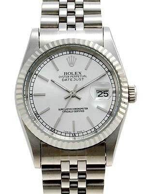Rolex Datejust Replica Watches SS Silver dial bar markers