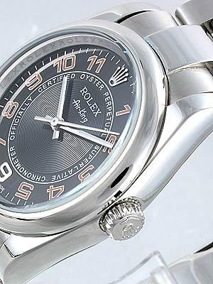 Rolex Air King Replica Watches SS Black Dial Red Arabic Hour Markers
