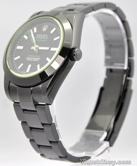 Replica Rolex Oyster Perpetual Milgauss Black PVD Watch 116400G