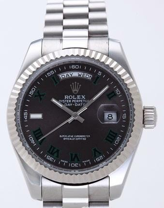 Rolex Day-Date II Replica Watches Brown Dial RX41160