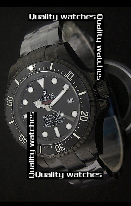 Rolex Deepsea Pro-Hunter Sea-Dweller Jacques Piccard Edition PVD 43mm Stainless strap Automatic Replica Watch