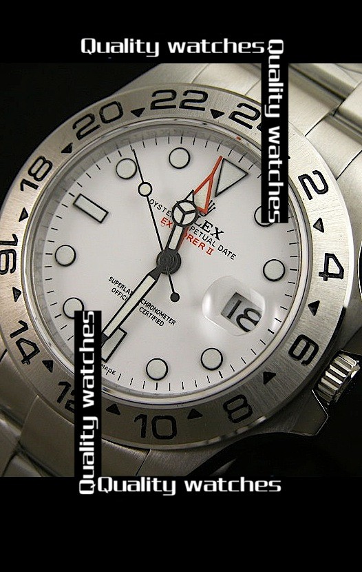 Swiss Rolex Explorer II White dial Red GMT Sticker 43mm  Automatic Replica Watch