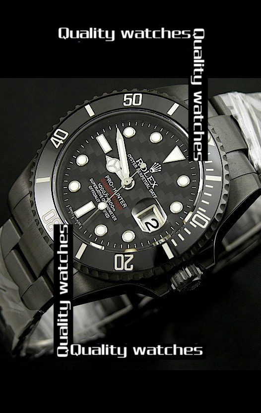 Swiss Rolex Pro-Hunter Submariner Carbon bezel PVD Automatic Replica Watch