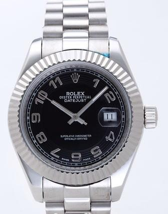 Rolex Datejust II Replica Watches Black Dial RX4114