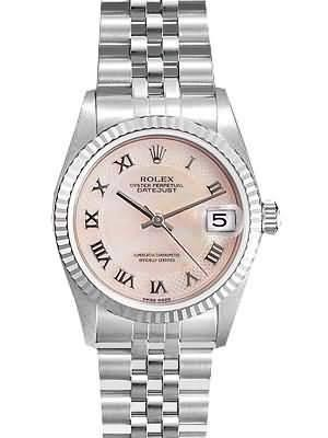 Rolex Datejust Replica Watches SS Gray Dial Roman Numeral Hour Markers