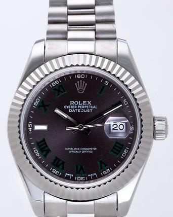 Rolex Datejust II Replica Watches Black Dial RX4112