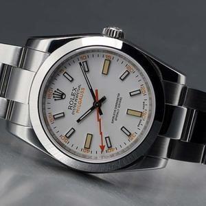 Swiss Rolex Milgauss White Dial 2007 Model Mens SWRX634