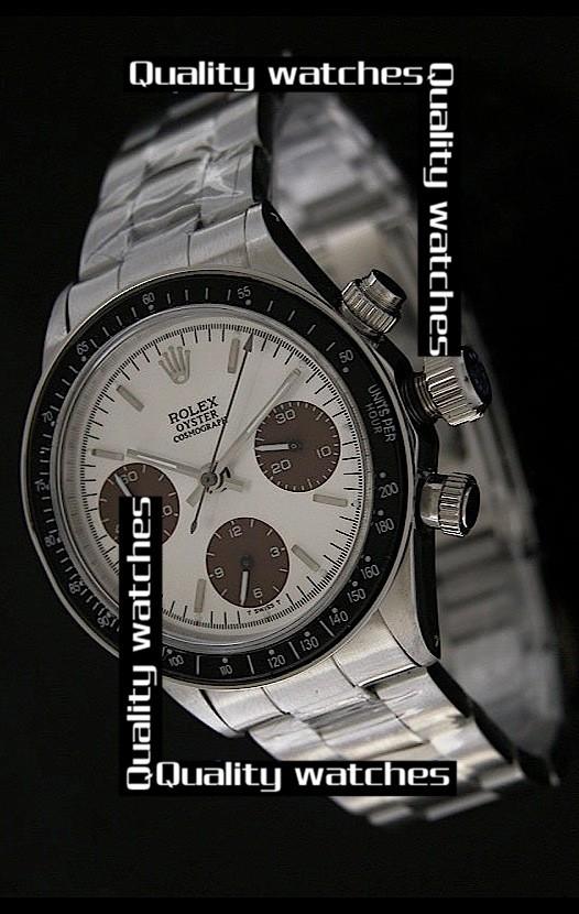 Swiss Rolex Cosmograph Daytona Black bezel Brown Sub-Dials  Automatic Replica Watch