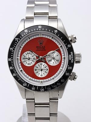 Swiss Rolex Daytona Replica Watches SS Red Dial White Inner Meter SS band (High End)