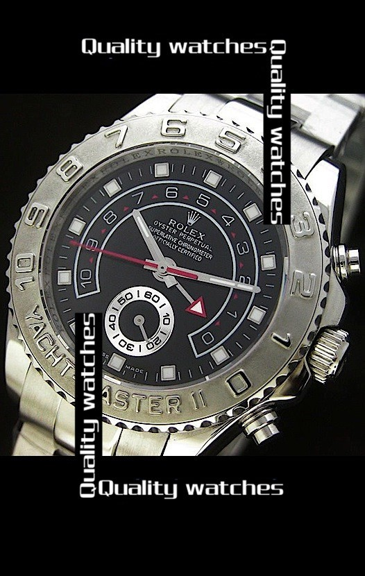 Swiss Rolex Yacht-Master II Black dial Automatic Replica Watch