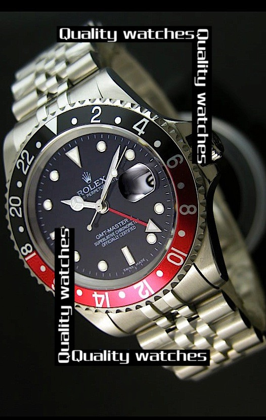 Swiss Rolex GMT-Master II Black&Red bezel Automatic Replica Watch