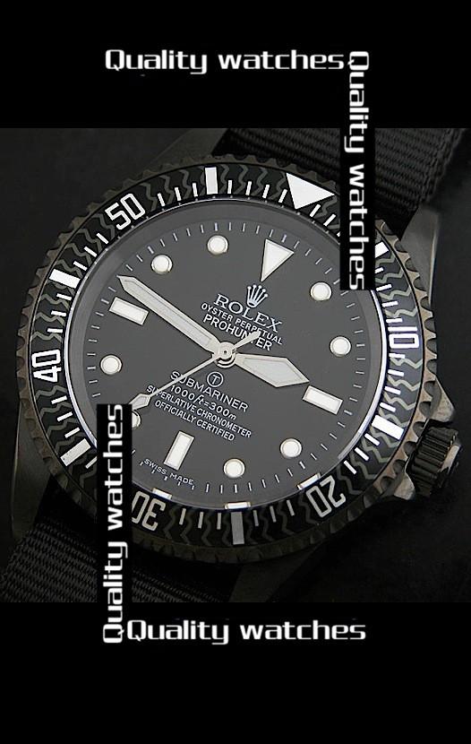 Swiss Rolex Prohunter Submariner Carbon bezel Automatic Replica Watch
