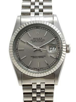 Rolex Datejust Replica Watches SS Gray dial bar markers II