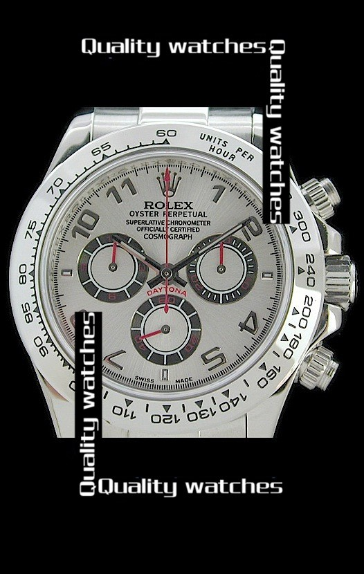 Swiss Rolex Cosmograph Daytona Silver Dial Steel  Automatic Replica Watch