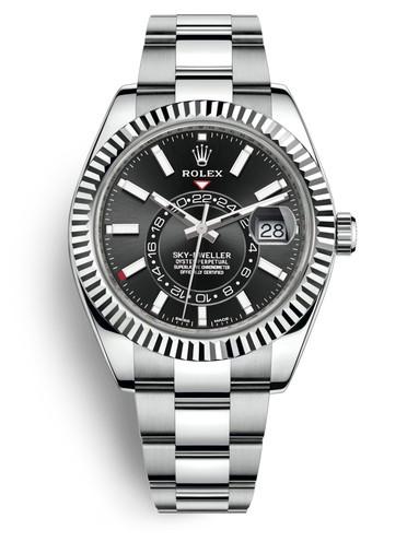 Rolex Sky-Dweller 326934-0005 Automatic Replica Watch Black Dial 40mm
