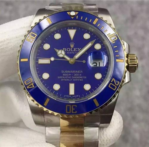 Rolex Submariner Swiss Cal.3135 Replica Watch 116613LB-0005 Blue Dial 40mm (Super Model)