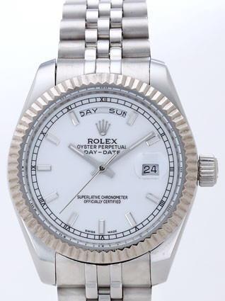 Rolex Day-Date II Replica Watches Silver Dial RX41141