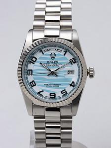 Rolex Day-Date II Replica Watches Blue Dial RX41158