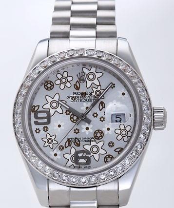 Rolex Datejust II Replica Watches Silver Dial RX4124