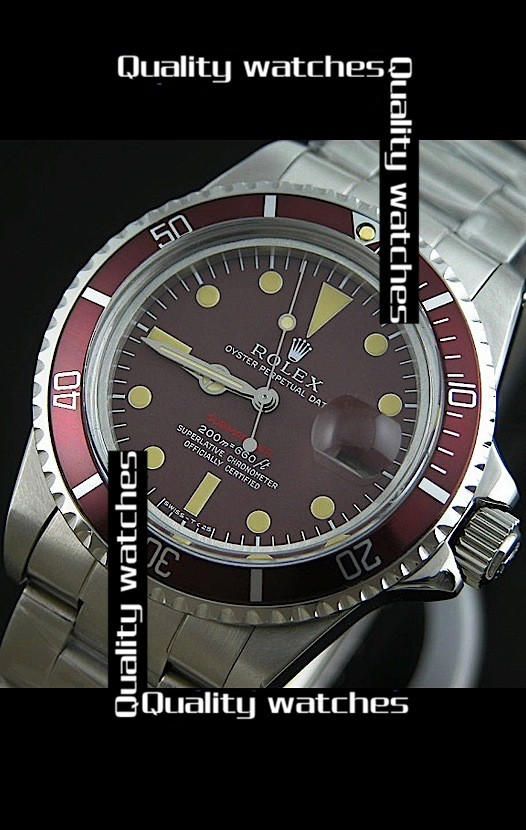Swiss Rolex Submariner Mulberry dial Automatic Replica Watch