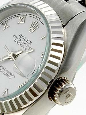 Rolex Datejust Replica Watches SS White Dial Roman Numeral Hour Markers I