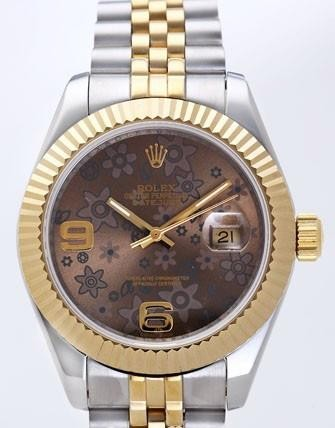 Rolex Datejust II Replica Watches Brown Dial RX4101