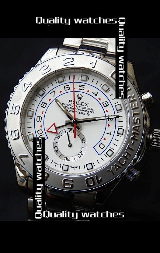 Swiss Rolex Yacht-Master II White dial 1:1 Mirror Jewels Automatic Replica Watch