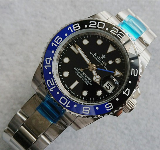 Rolex GMT-Master II Automatic Watch Black&Blue Bezel 40mm