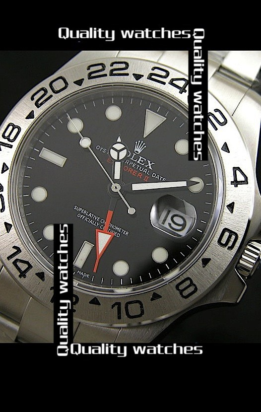 Swiss Rolex Explorer II Black dial Red GMT Sticker 43mm  Automatic Replica Watch