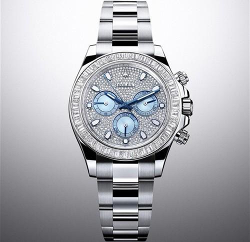 Swiss Rolex Cosmograph Daytona 116576TBR Platina Full Diamonds dial Men Automatic Replica Watch (High End)