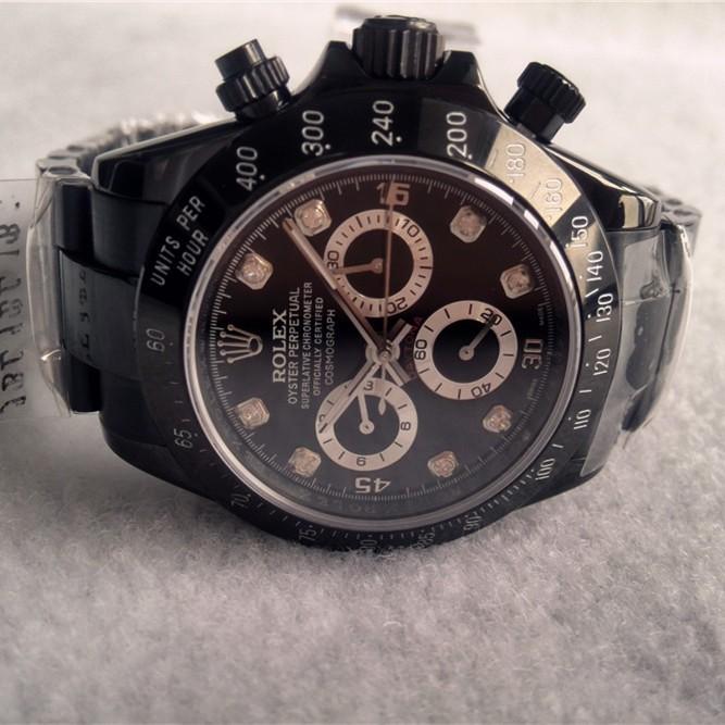 Replica Rolex Daytona Watches Swiss Automatic Full Black 40mm (High End)